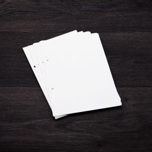 lot de 50 feuilles pointillet pour bullet journal carnet de bord agenda pour classeur a 2 trous