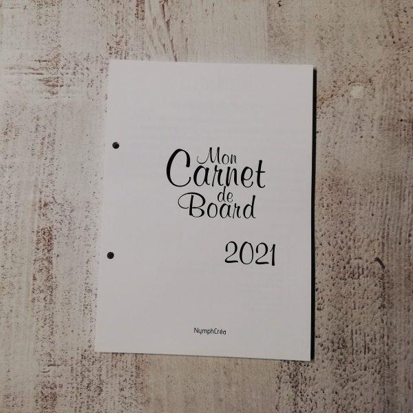 carnet de bord bullet journal agenda 2021
