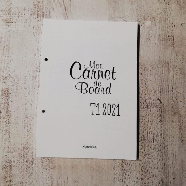 carnet de bord bullet journal agenda 2021 T1