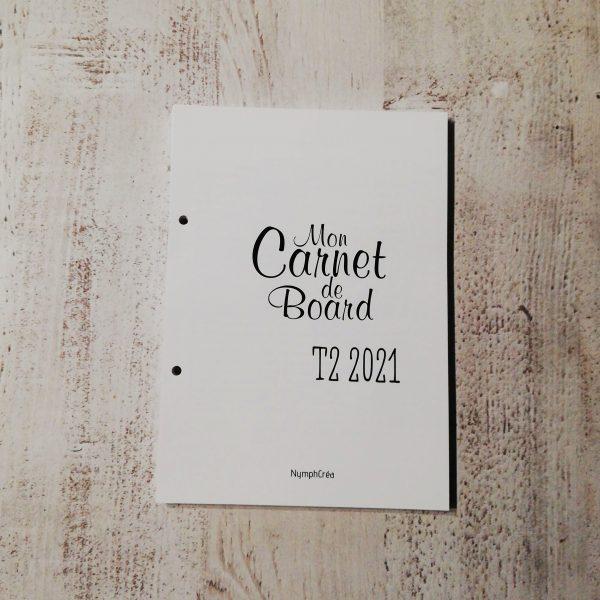 carnet de bord bullet journal agenda 2021 T2