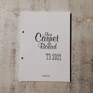 carnet de bord bullet journal agenda 2021 T3