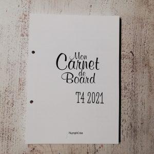 carnet de bord bullet journal agenda 2021 T4